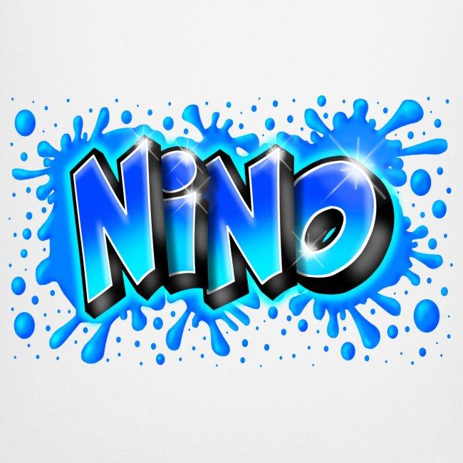 Graffiti NINO splash blue