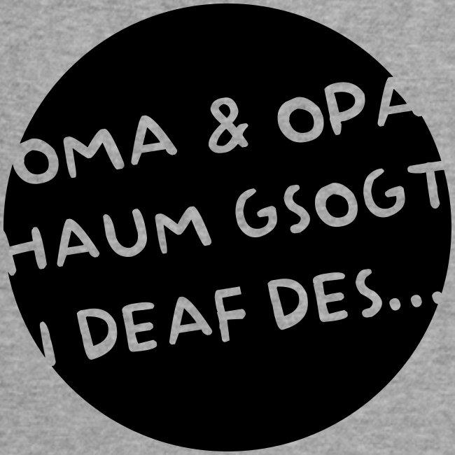 Vorschau: Oma Opa haum gsogt i deaf des - Baby Bio-Kurzarm-Kontrastbody