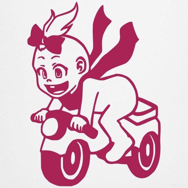 Mädchen auf Motorrad