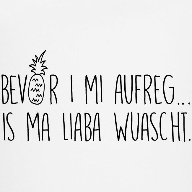 Vorschau: Bevor i mi aufreg is ma liaba wuascht - Baby Bio-Kurzarm-Kontrastbody