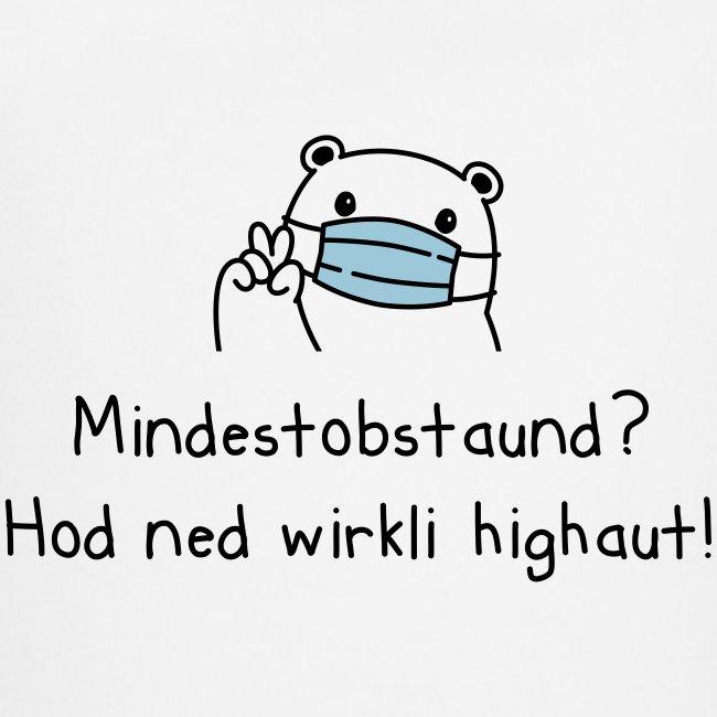 Vorschau: Mindestobstaund hod ned highaut - Baby Bio-Kurzarm-Kontrastbody