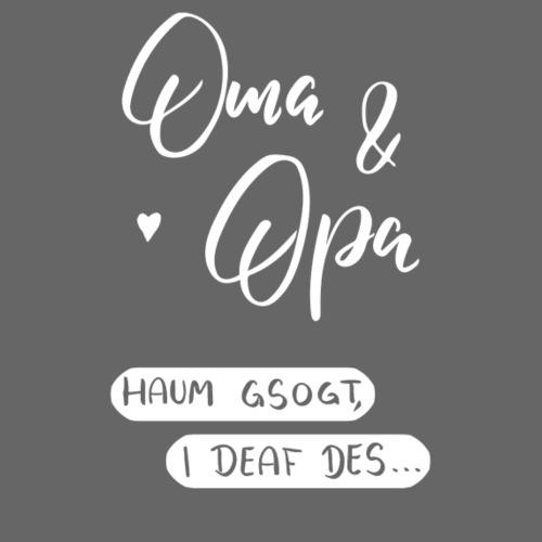 Oma und Opa haum gsogt i deaf des... - Baby Bio-Kurzarm-Kontrastbody