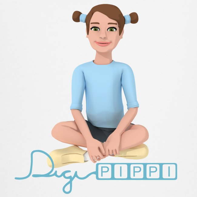 DigiPippi - maskot og logo