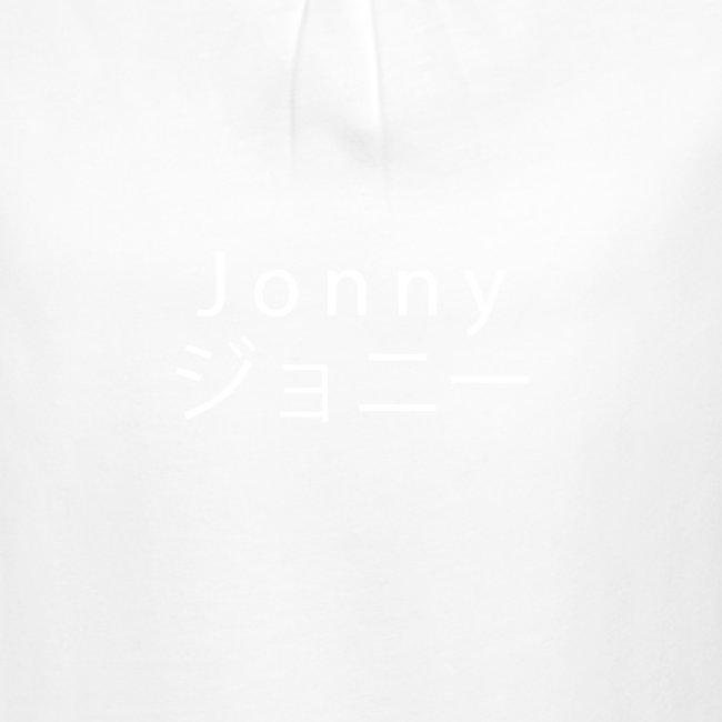 J o n n y (white on black)