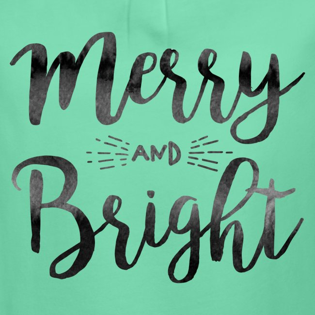 merry bright watercolor