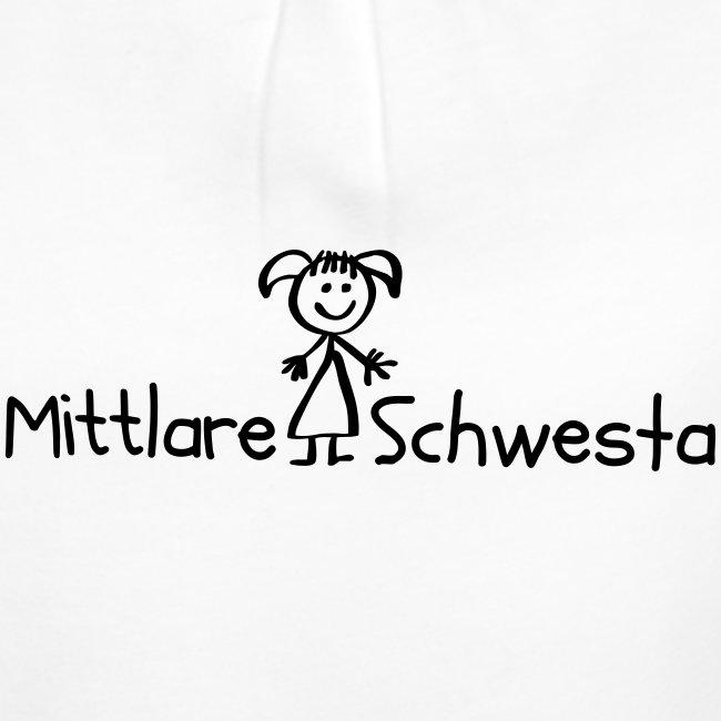 Vorschau: Mittlare Schwesta - Mädchen-T-Shirt mit Raffungen