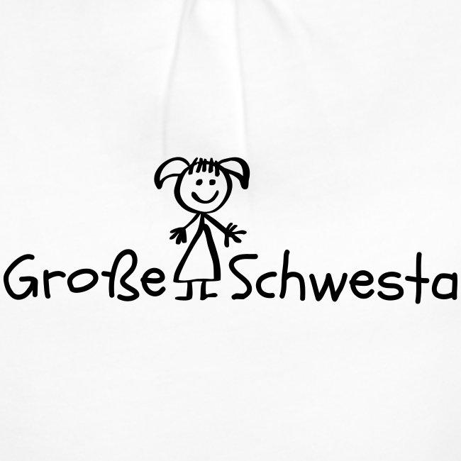 Vorschau: Grosse Schwesta - Mädchen-T-Shirt mit Raffungen