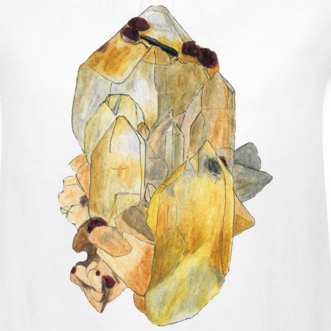 Bergkristall mit Granat