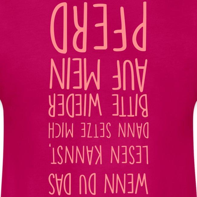 Vorschau: Lesen kannst pferd - Mädchen-T-Shirt mit Raffungen