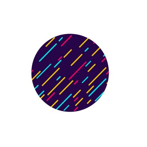 Lluvia de Colores - Paquete de 5 chapas pequeñas (25 mm)