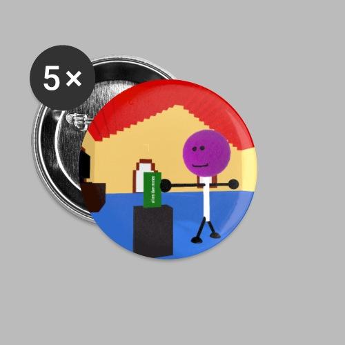 Lollipop shredding money - Buttons small 1''/25 mm (5-pack)