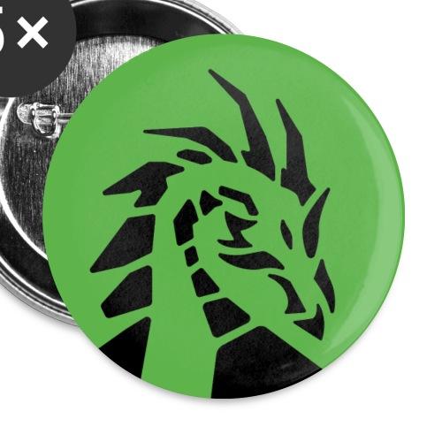 dragon d'émeraude badge - Lot de 5 petits badges (25 mm)