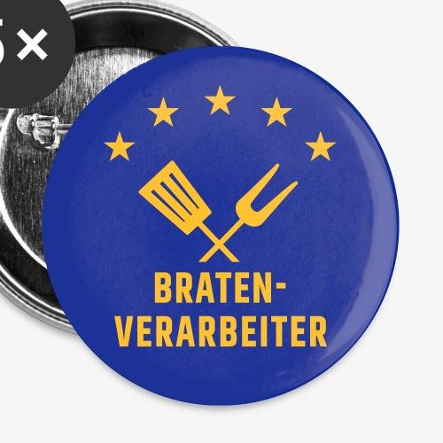 Braten-Verarbeiter - Buttons klein 25 mm (5er Pack)