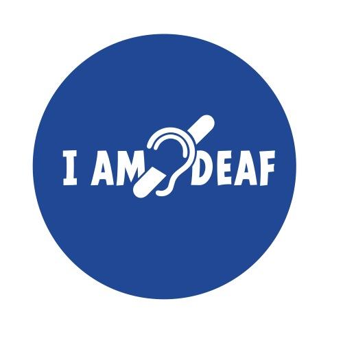 I am deaf. Ik hoor je niet. Doven, slechthorend - Buttons klein 25 mm (5-pack)