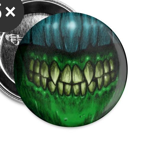 Covid Monster Smile Mask - Lot de 5 petits badges (25 mm)