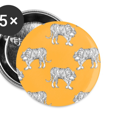 Lovedesh BD Flora & Fauna Whirange Tiger - Buttons small 1''/25 mm (5-pack)