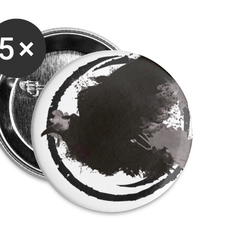 The Raven - Buttons/Badges lille, 25 mm (5-pack)