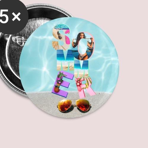 Sommer Vibrations - Buttons klein 25 mm (5er Pack)