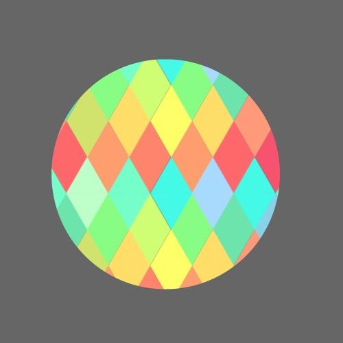 Triangulos de Colores - Paquete de 5 chapas pequeñas (25 mm)