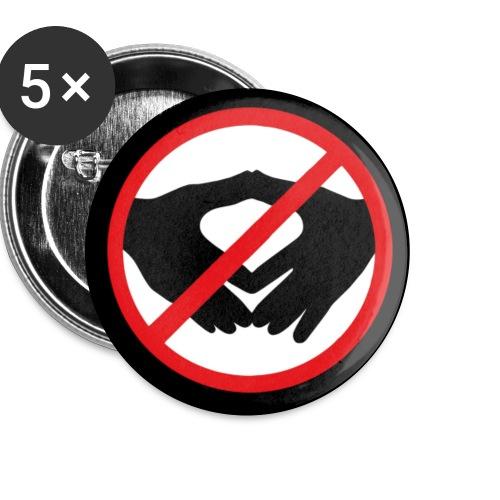 Mundschutz Verbotsschild - Buttons klein 25 mm (5er Pack)