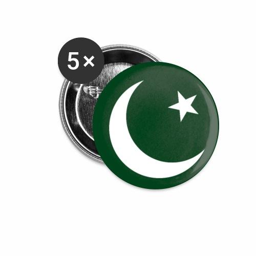 Pakistan flag phone case - Buttons small 1''/25 mm (5-pack)