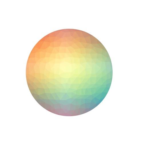 Azulejo Abstracto de Colores - Paquete de 5 chapas pequeñas (25 mm)