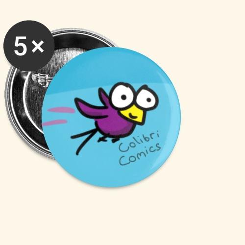 Colibri Button - Buttons klein 25 mm (5er Pack)