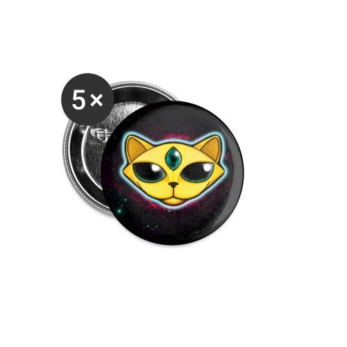 Spacecat (auf Schwarz, für Accessoires) - Buttons klein 25 mm (5er Pack)