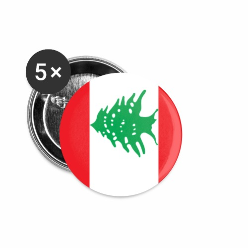 Lebanon flag phone case - Buttons small 1''/25 mm (5-pack)