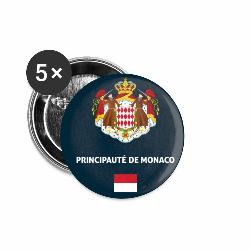 Monaco passport phone case - Buttons small 1''/25 mm (5-pack)