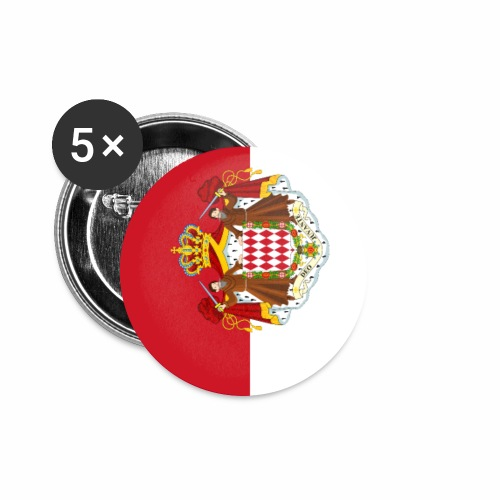 Monaco flag phone case - Buttons small 1''/25 mm (5-pack)