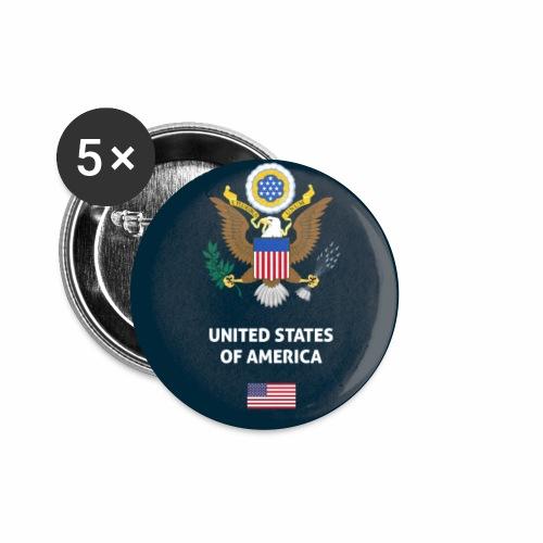 USA passport phone case - Buttons small 1''/25 mm (5-pack)