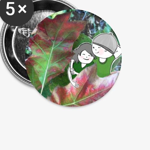 Herbstzeit - Kuschelzeit - Buttons klein 25 mm (5er Pack)