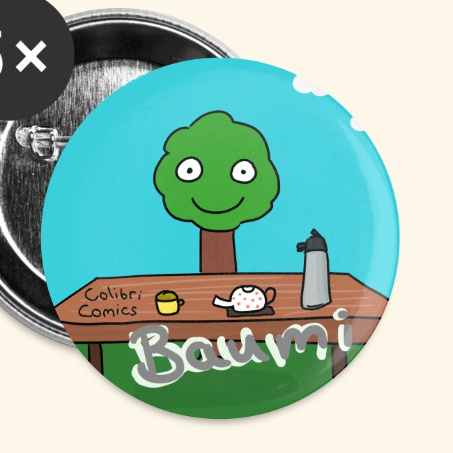Baumi bietet Heißgetränke an