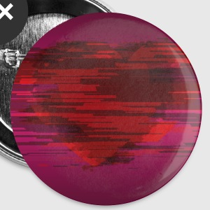 Valentines - glitch - Buttons small 25 mm
