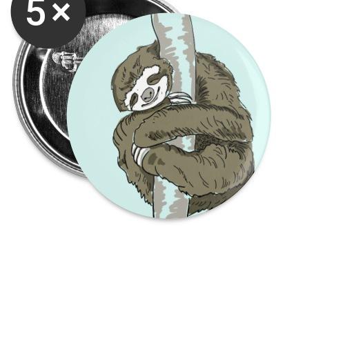 faultier Slow chillen nap schlaf Nerd sloth animal - Buttons klein 25 mm