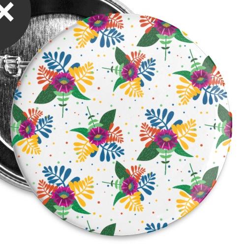 Exotische Blumen Blume Blüten Blüte Blätter - Buttons klein 25 mm (5er Pack)