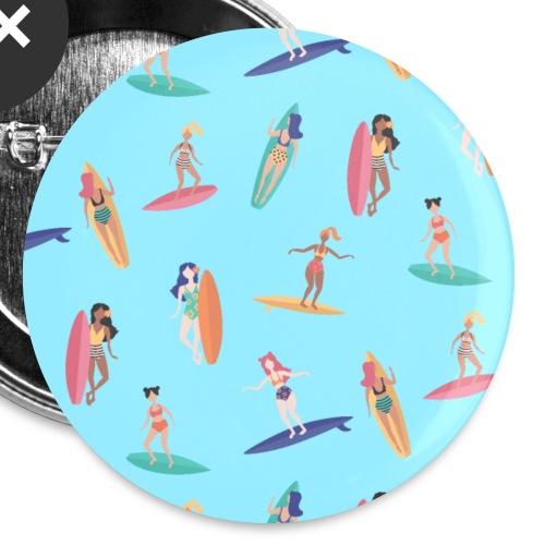 Surfer Wassersport Sportler Surfboard Muster - Buttons klein 25 mm (5er Pack)