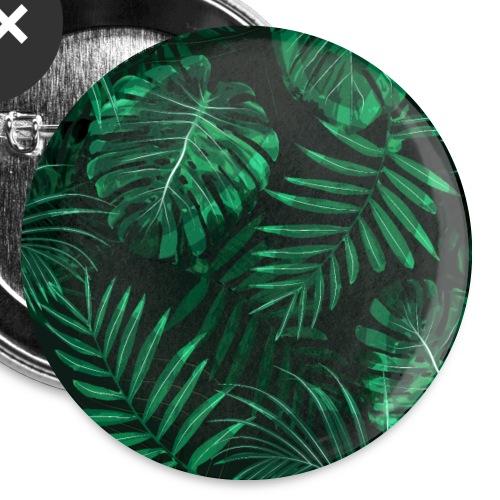 Tropischer Farn Topen Regenwald Blätter - Buttons klein 25 mm (5er Pack)