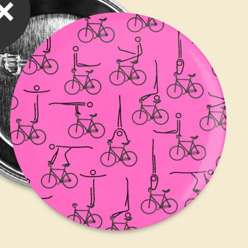 Kunstrad | Artistic Cycling Icon | Muster rosa - Buttons klein 25 mm (5er Pack)