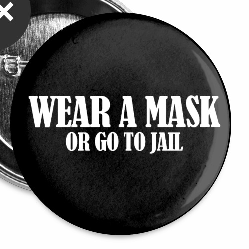 Wear a Mask (dark face mask) - Buttons small 1''/25 mm (5-pack)