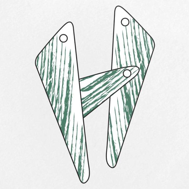 lettera H verde