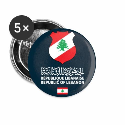 Lebanon passport phone case - Buttons small 1''/25 mm (5-pack)
