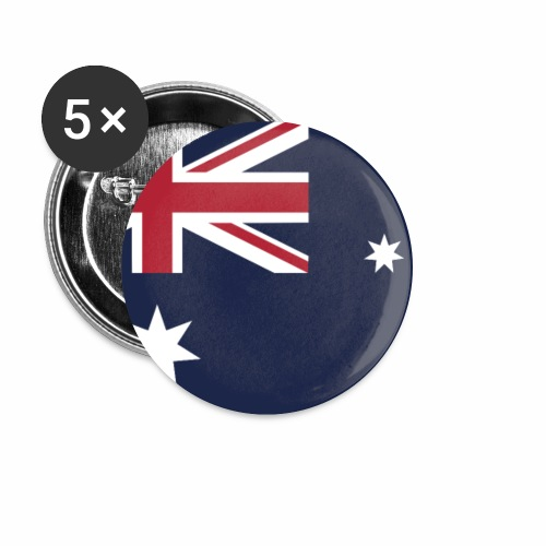 Australia flag phone case - Buttons small 1''/25 mm (5-pack)