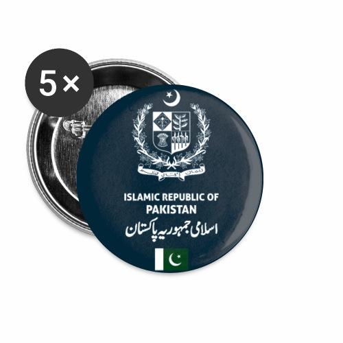 Pakistan passport phone case - Buttons small 1''/25 mm (5-pack)
