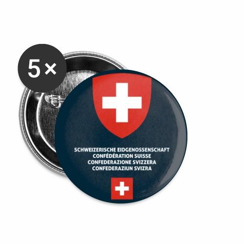 Switzerland passport phone case - Buttons small 1''/25 mm (5-pack)