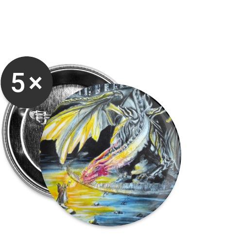 drache - Buttons klein 25 mm (5er Pack)