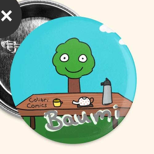Baumi bietet Heißgetränke an - Buttons klein 25 mm (5er Pack)