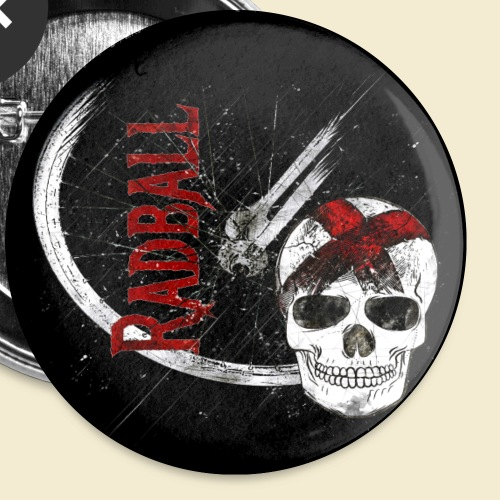 Radball | Cycle Ball Skull | Muster - Buttons klein 25 mm (5er Pack)