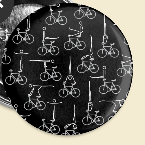Kunstrad | Artistic Cycling Icon | Muster - Buttons klein 25 mm (5er Pack)